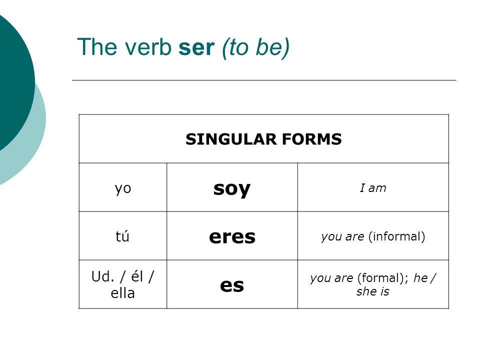 you are (formal); he / she is