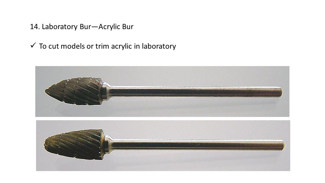 14. Laboratory Bur—Acrylic Bur
