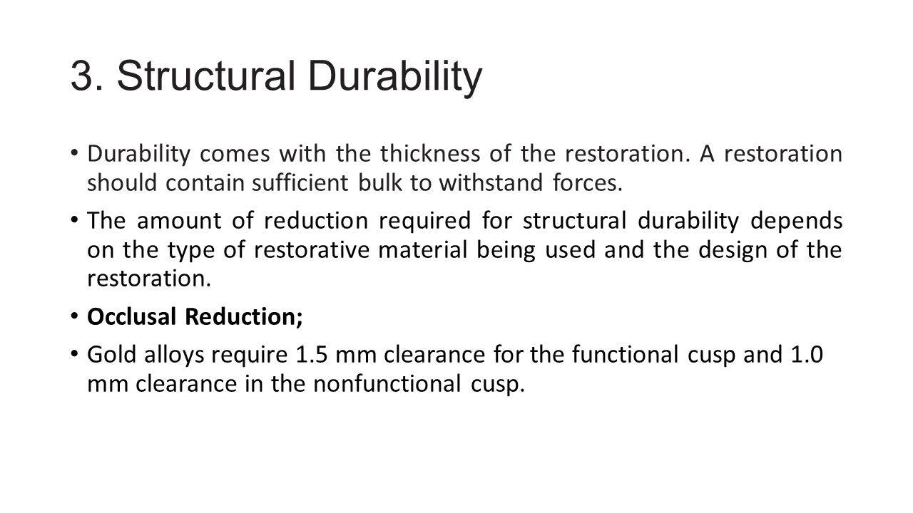 3. Structural Durability