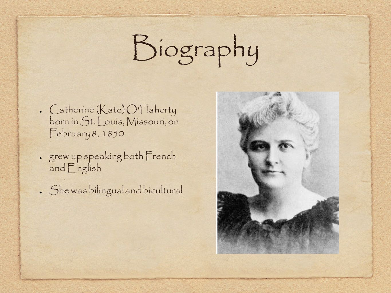 a study of the life of kate chopin Kate chopin: a literary life  kate chopin biography - cliffsnotes study guides - personal background kate chopin was born chopin began st louis' first.