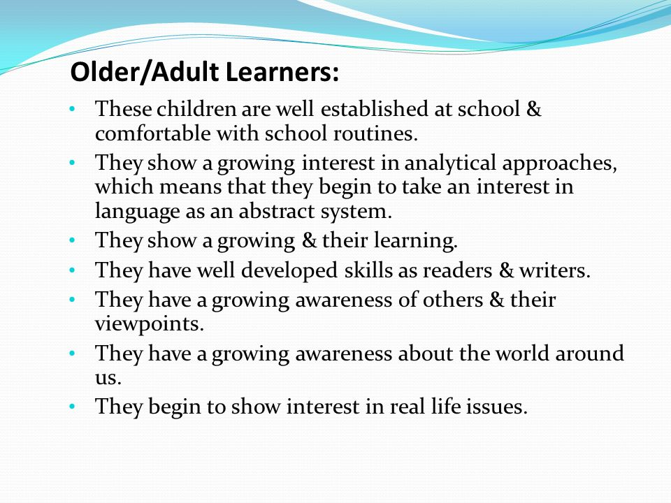 teaching speaking to adult learners