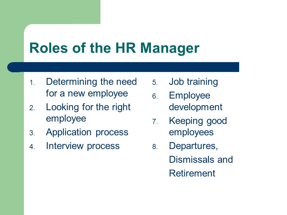 role of the human resource manager Csr and hr management issue brief and roadmap 5 introduction  human resource managers are well positioned to play an instrumental role in  helping.