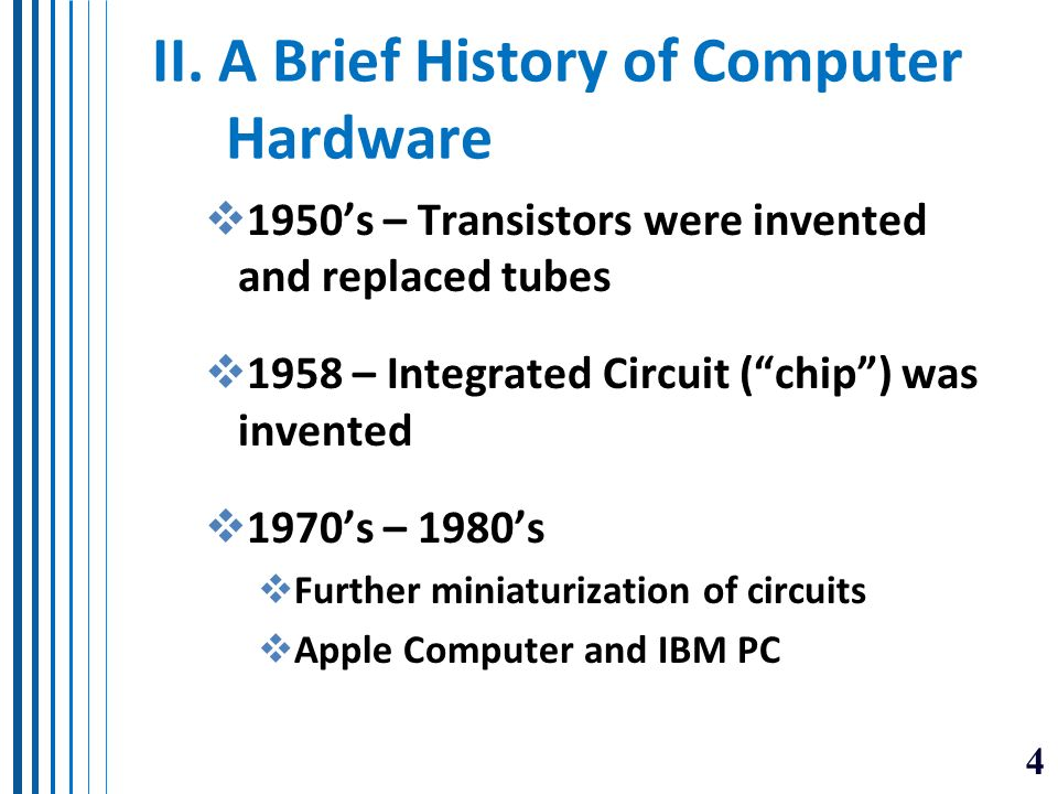 history of computer hardware Learn how computers evolved from massive mechanical machines to sleek smartphones in this collection plus, discover the pioneers of software and the internet who revolutionized our society.