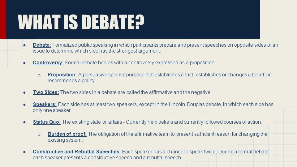 debate speech rebuttals Our debate rebuttal want music and videos with zero ads get youtube red.
