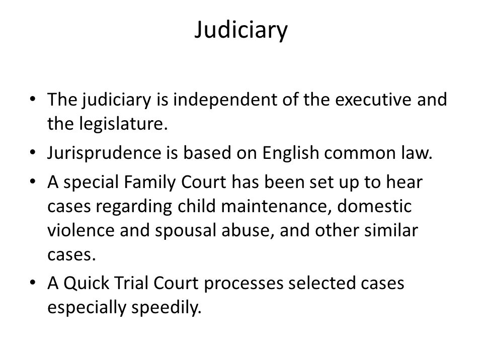 law independence of the judiciary It follows logically from the independence of the judiciary that it is not within the  of sentences imposed by the judiciary, in accordance with the law.
