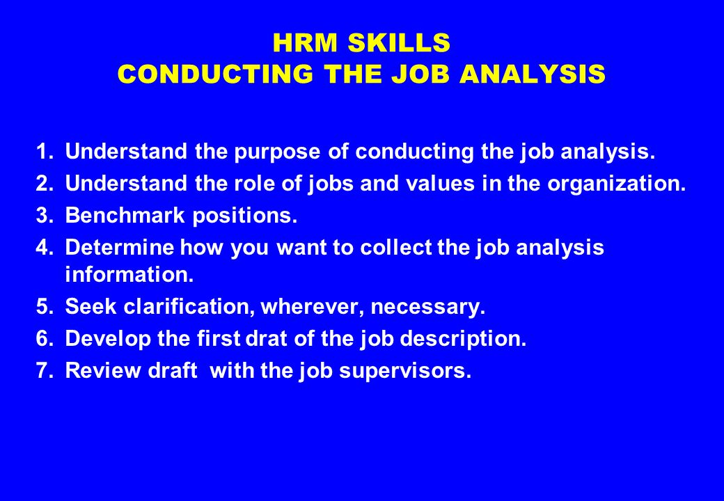 the objective of conducting job analysis Advertisements: interview: definition, objectives, types and guidelines for effective interviewing definition: interview is the widely used (election method it is a face-to-face interaction between interviewee and interviewer if handled carefully, it can be a powerful technique in having accurate information of the interviewee otherwise unavailable.