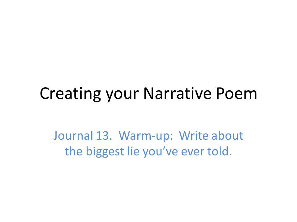 How To Write A Narrative Poem: Basics to Advanced Methods