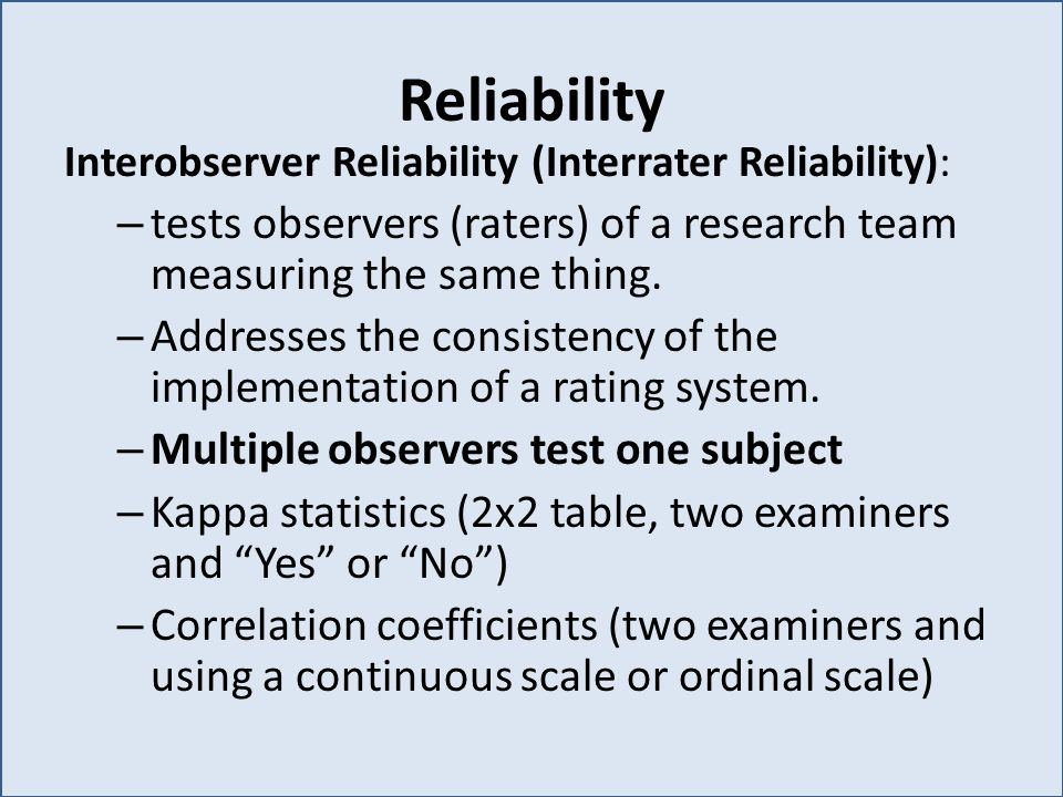 reliability test in research pdf