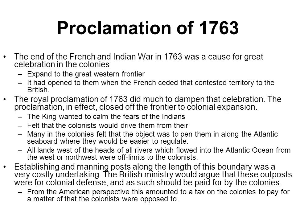 Essay/Term paper: Proclamation act of 1763
