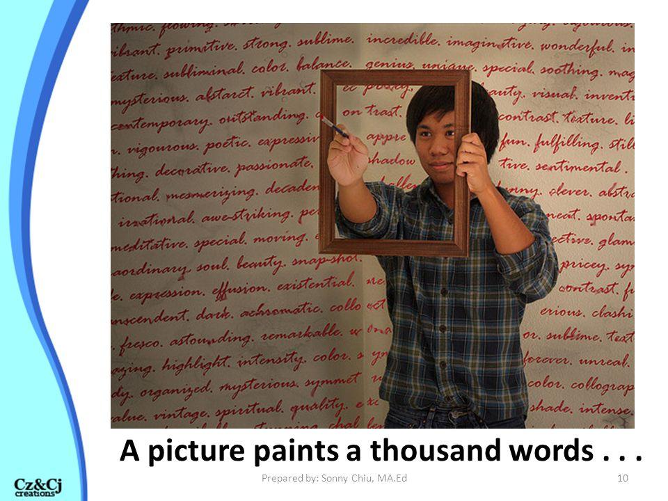 A picture paints a thousand words . . .