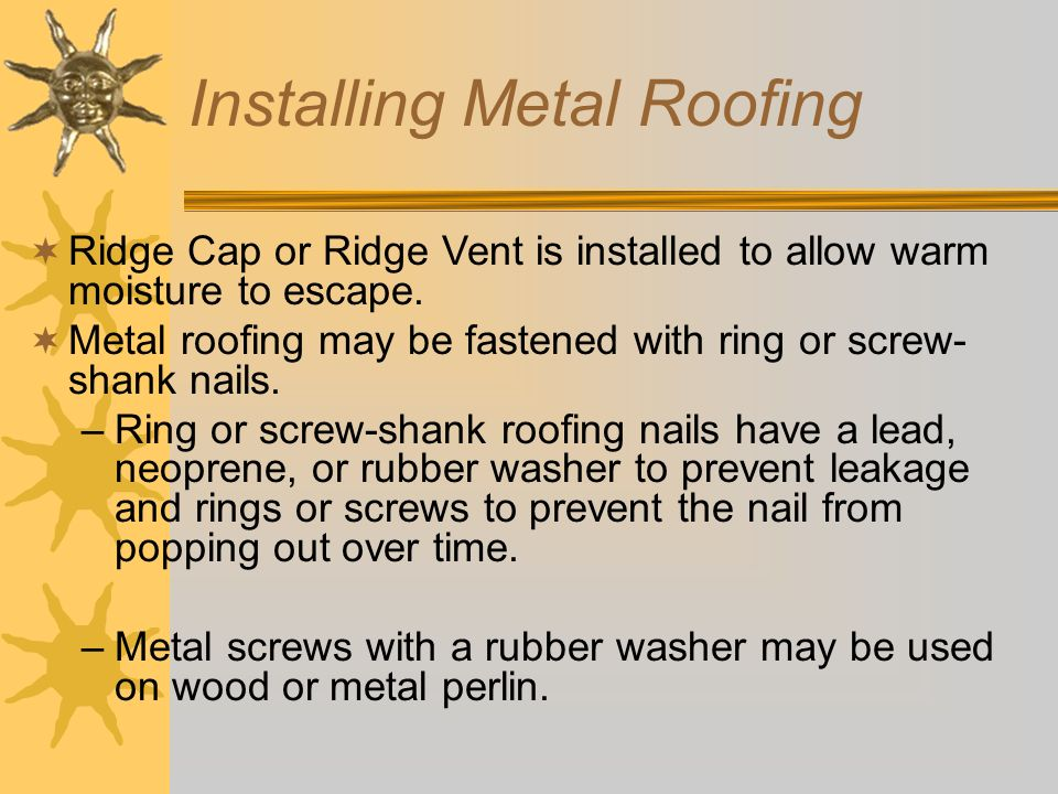 Installing Metal Roofing  sc 1 st  SlidePlayer & Roofing Agricultural Structures - ppt video online download memphite.com