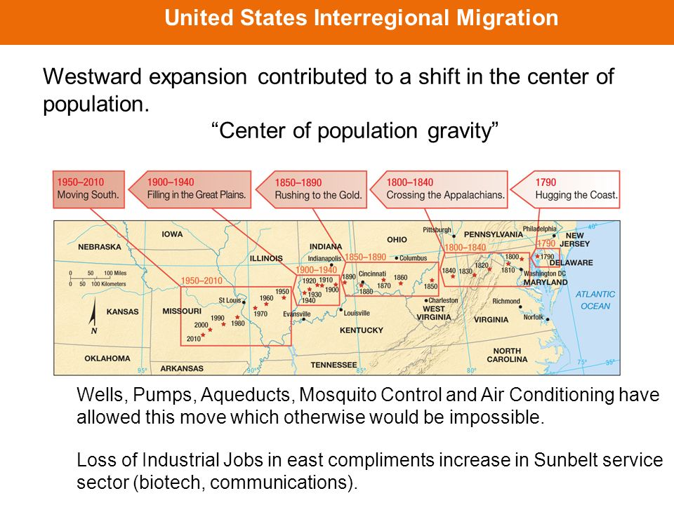 the causes of internal migration in the united states of america Which of the following is the most common cause of migration a more internal migration than external to migration in the pioneer period of united states.