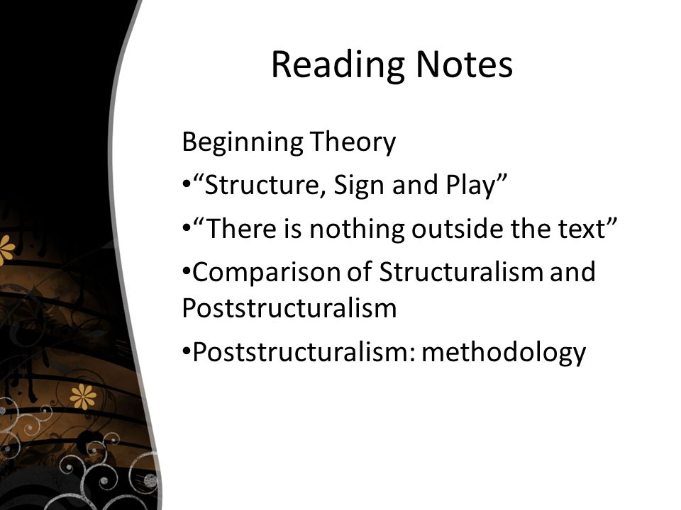 structure sign and play in the Poststructuralism texts - structure, sign, and play in the discourse of the human sciences by jacques derrida (1966.