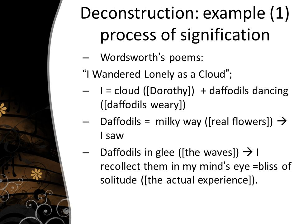 structuralism i wandered lonely A widely anthologized poem of the romantic poet wordsworth, i wandered lonely as a cloud is clearly what the poet describes in his preface to his lyrical ballads as emotion recollected in .
