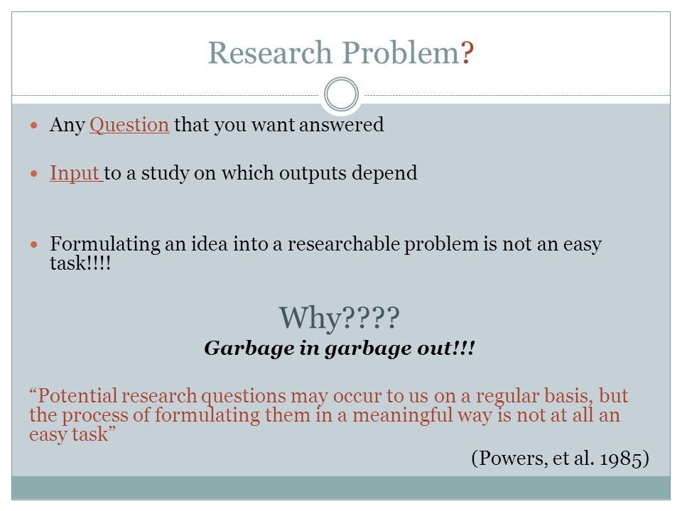 researching research topic ppt video online 7 research problem