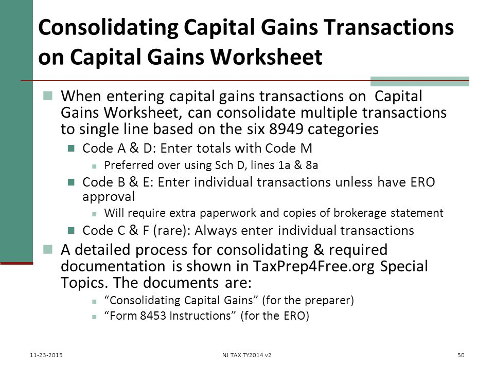 Capital Gains Losses Including Sale of Home ppt download – Capital Gains Worksheet
