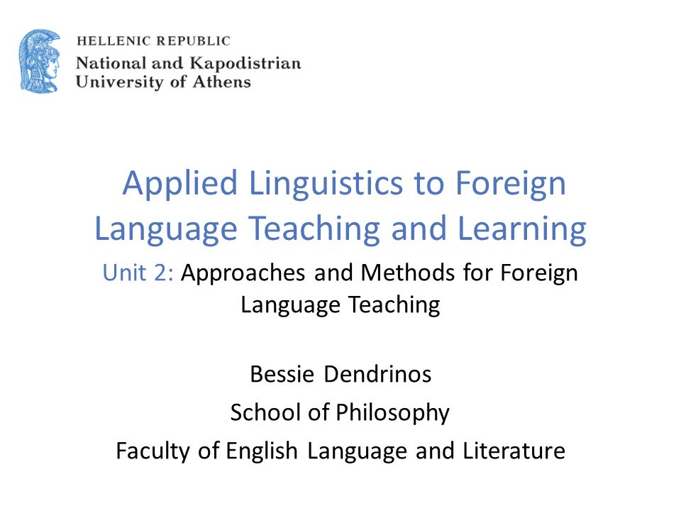 applied linguistic and language learning These areas of applied linguistic study had  the ways in which applied linguistics—and foreign language learning and study—would.