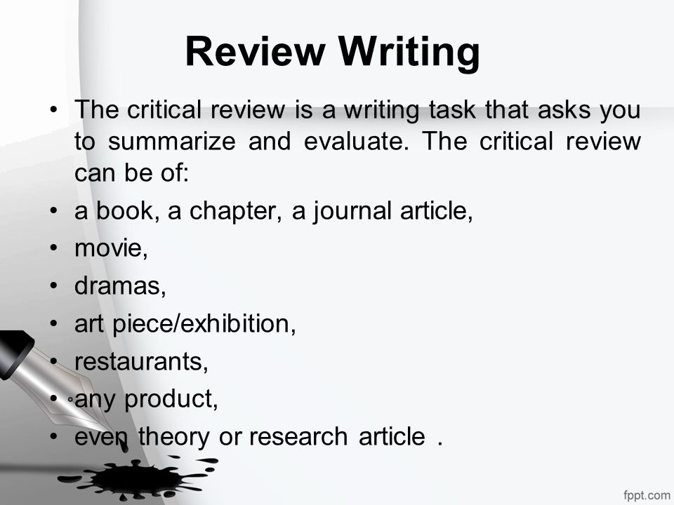 how to write critical review of an article