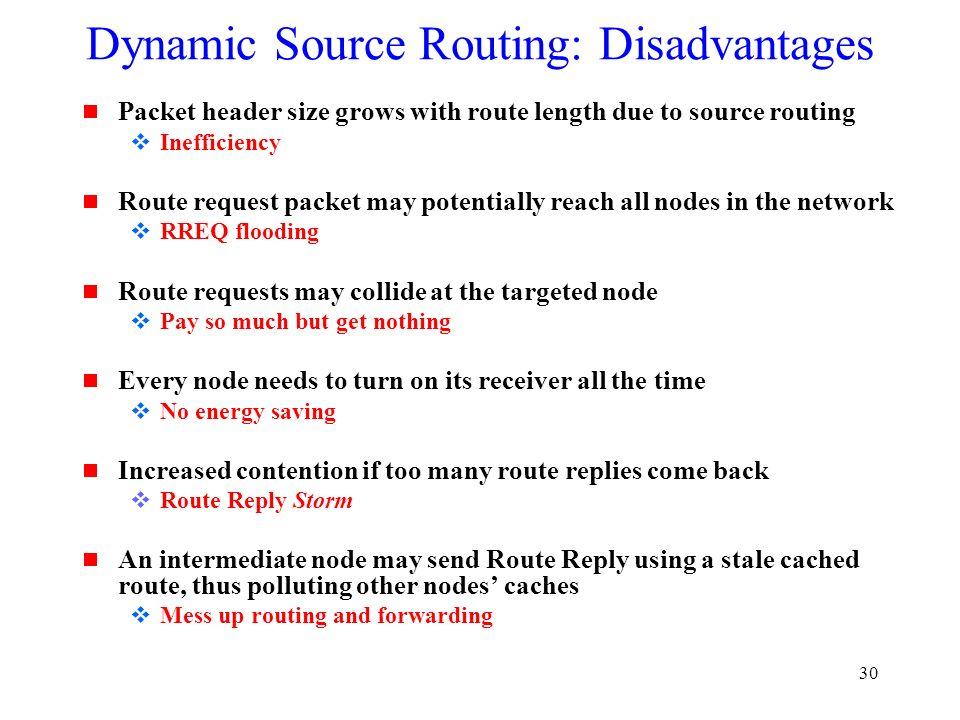 dynamic source routing International journal of computer applications (0975 – 8887) volume 68– no20, april 2013 6 a review of energy efficient dynamic source routing protocol for.