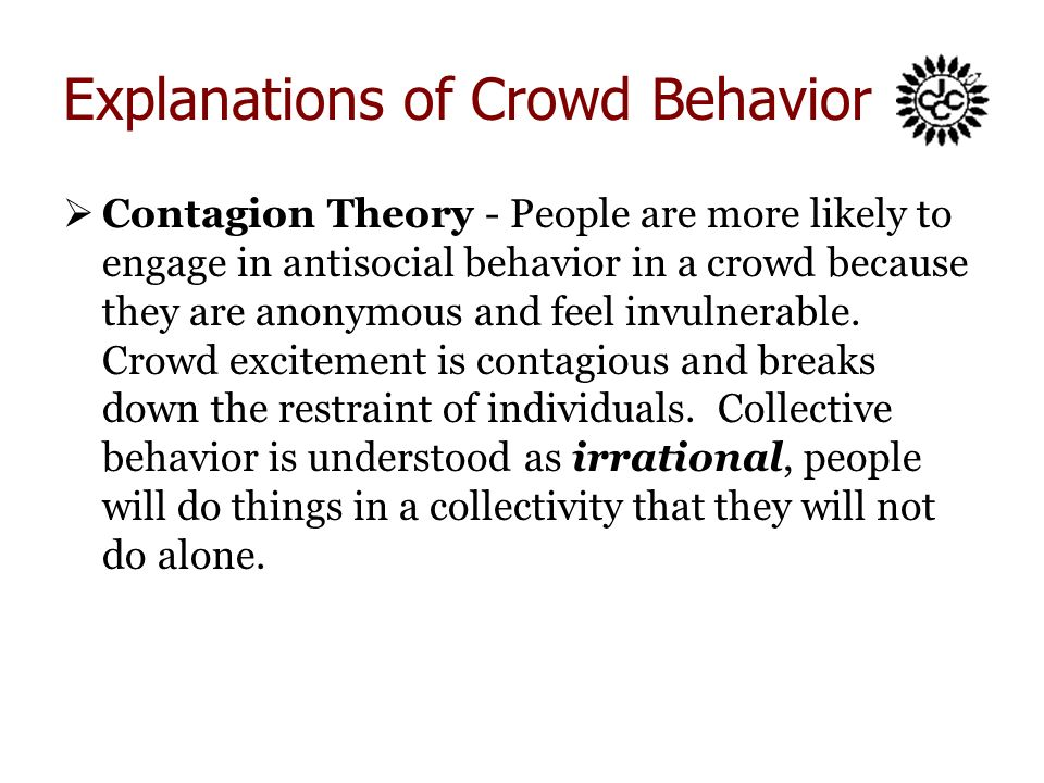 crowd behavior View crowd behavior research papers on academiaedu for free.