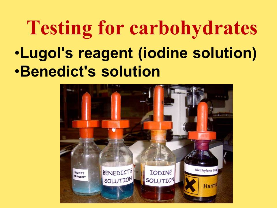 Testing for carbohydrates