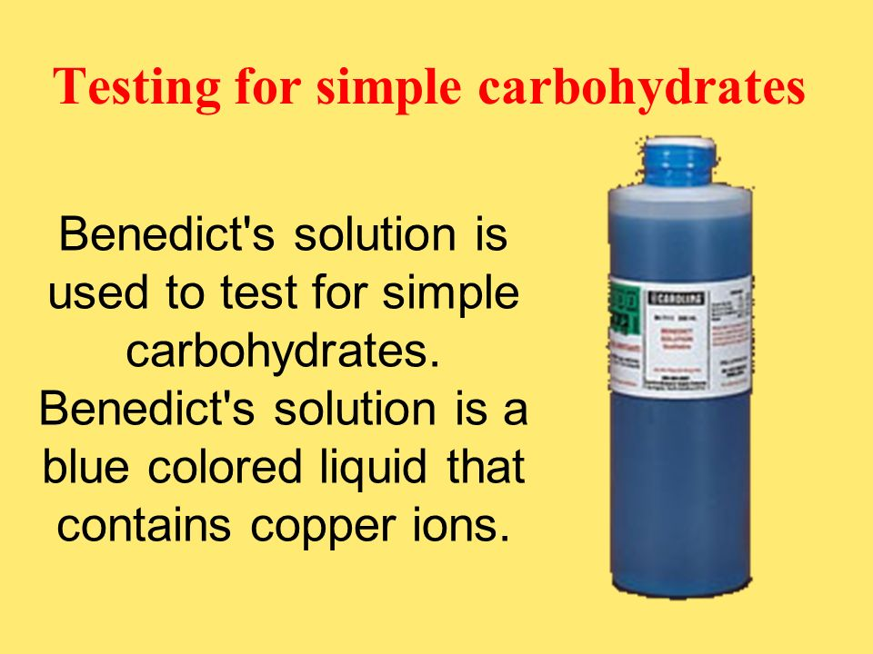 Testing for simple carbohydrates