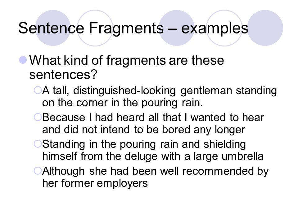 Sentence Fragment Exle 28 Images Sentence Fragments Tutorial