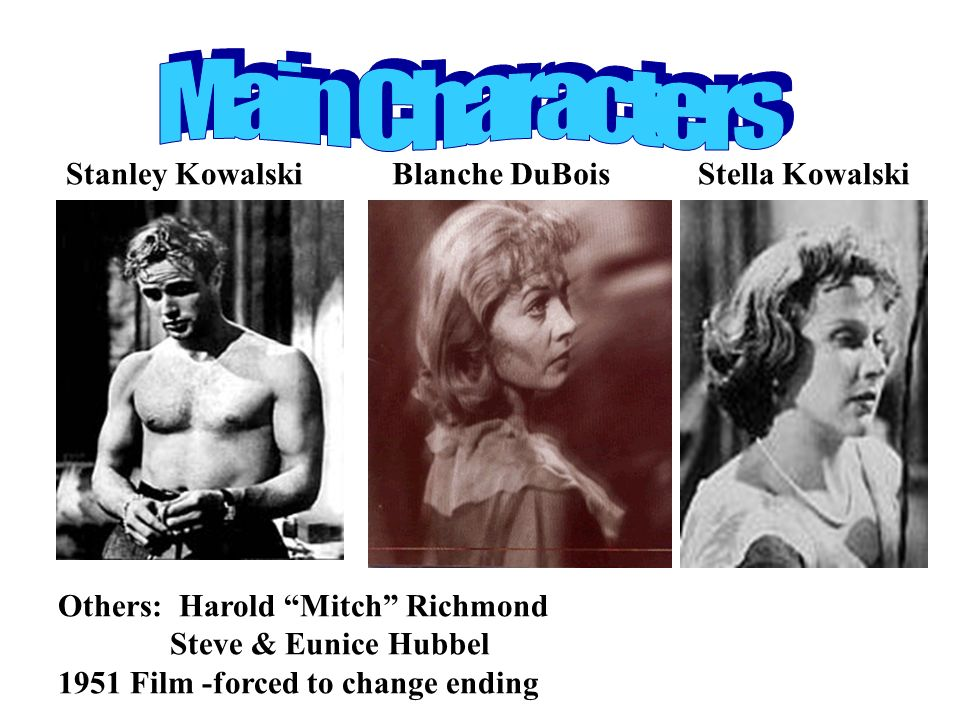 blanche stella stanley and mitch essay Her past catches up with her and destroys her relationship with mitch stanley  stanley, blanche's sister stella a streetcar named desire and blanche essay.