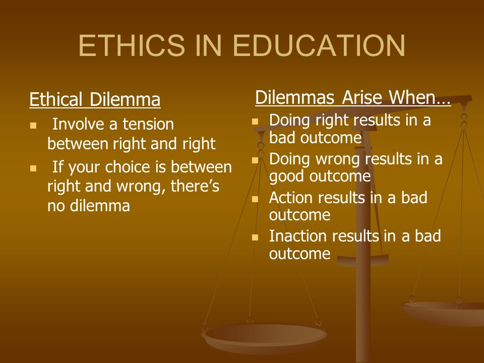 business ethics when good results are bad results Ethics in decision making can be addressed as part of the business decision  making  or life decisions with a focus on right conduct as the result of a  personal choice  the good news is that, in general, most approaches will lead  to similar.