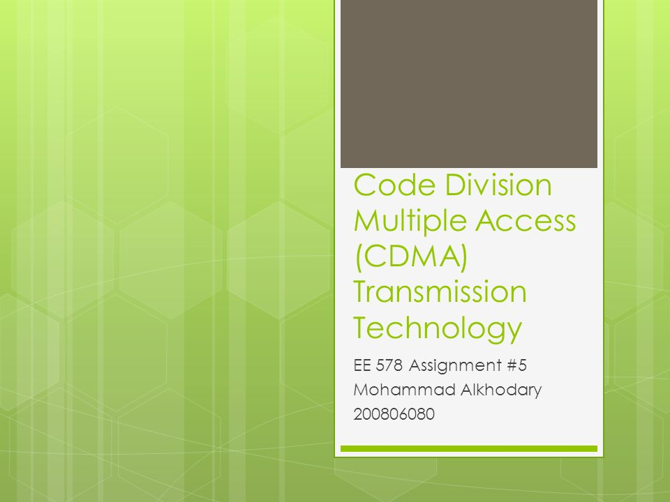 code division multiple access project