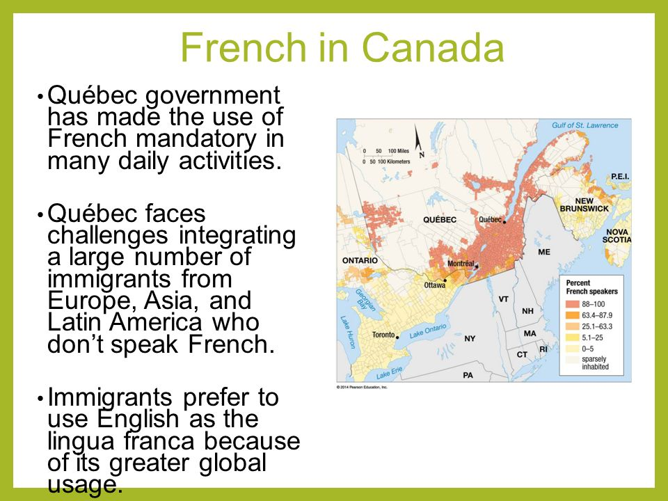 Key issue 3 why do individual languages vary among places for 29 in french