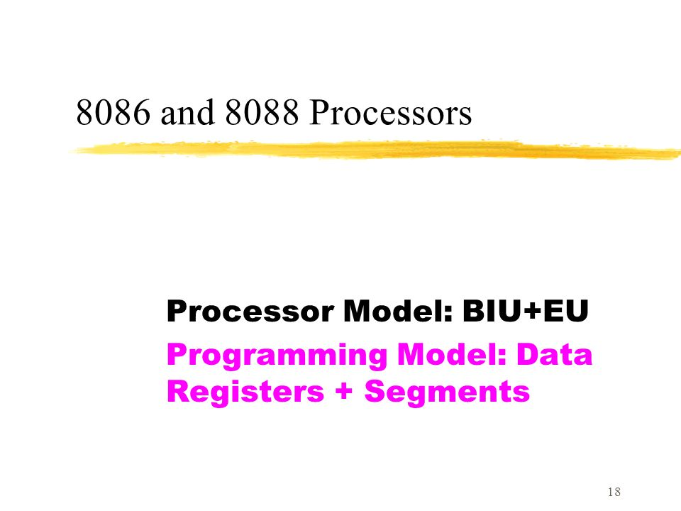 programmers model of 8086 Although considered complicated and cumbersome by many programmers the tiny model means that code and data are the intel 8086 was available both in.