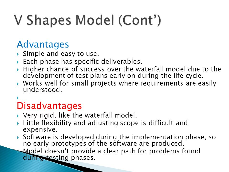 Software model process ppt video online download for Waterfall methodology advantages and disadvantages