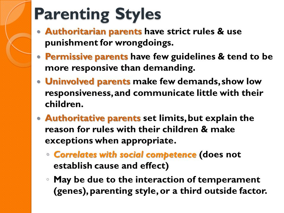 """is a strict parenting style beneficial to children Whether or not a strict, authoritarian parenting style really hinders the child from developing a strong sense of idea that """"children are supposed to sacrifice their own desires for the benefit of the family"""" (uba, 1994) unquestioning obedience, strict parental discipline, and control of children"""" (chiu, 1987 huang, 1997."""