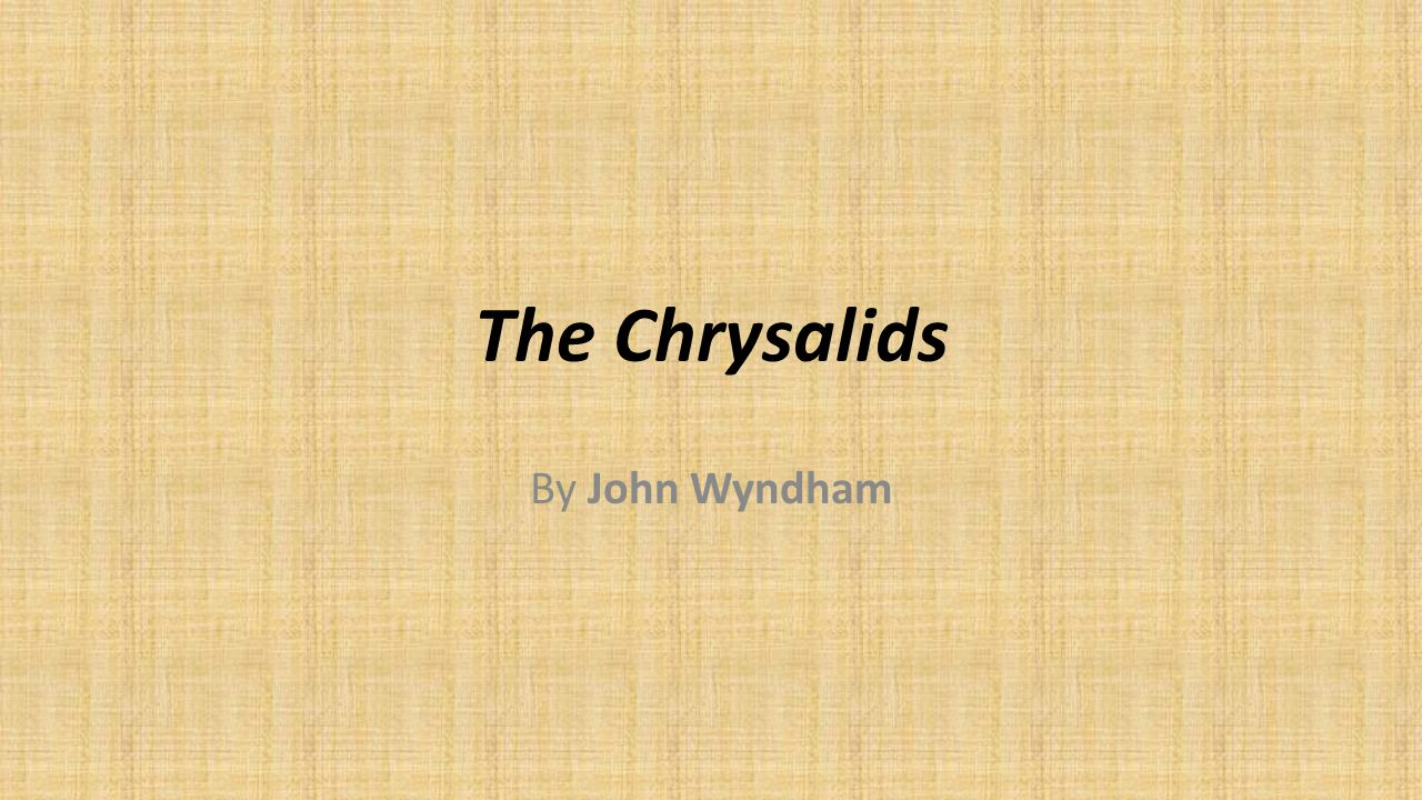 what is tribulation in the chrysalids