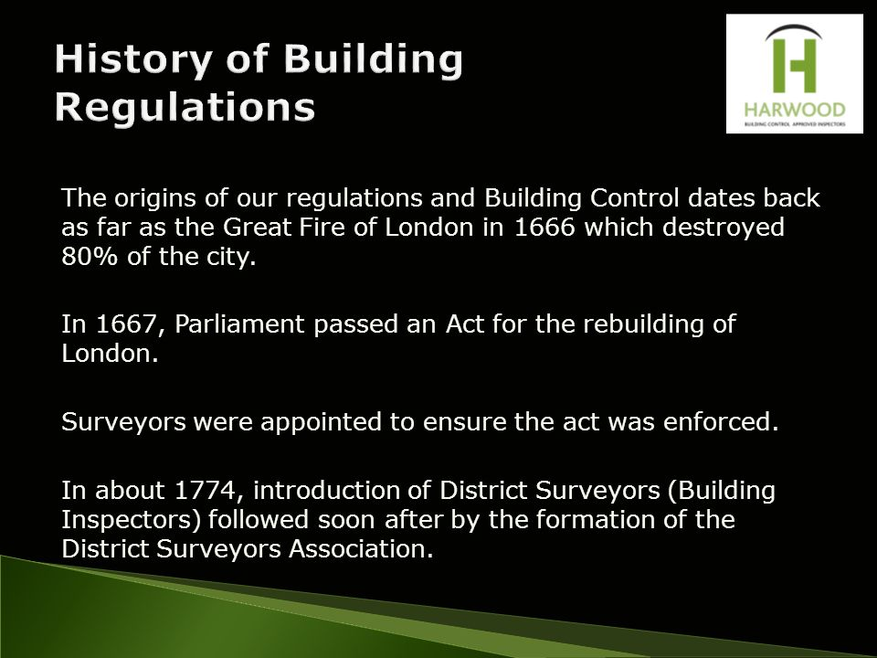 Why Were Building Regulations Introduced