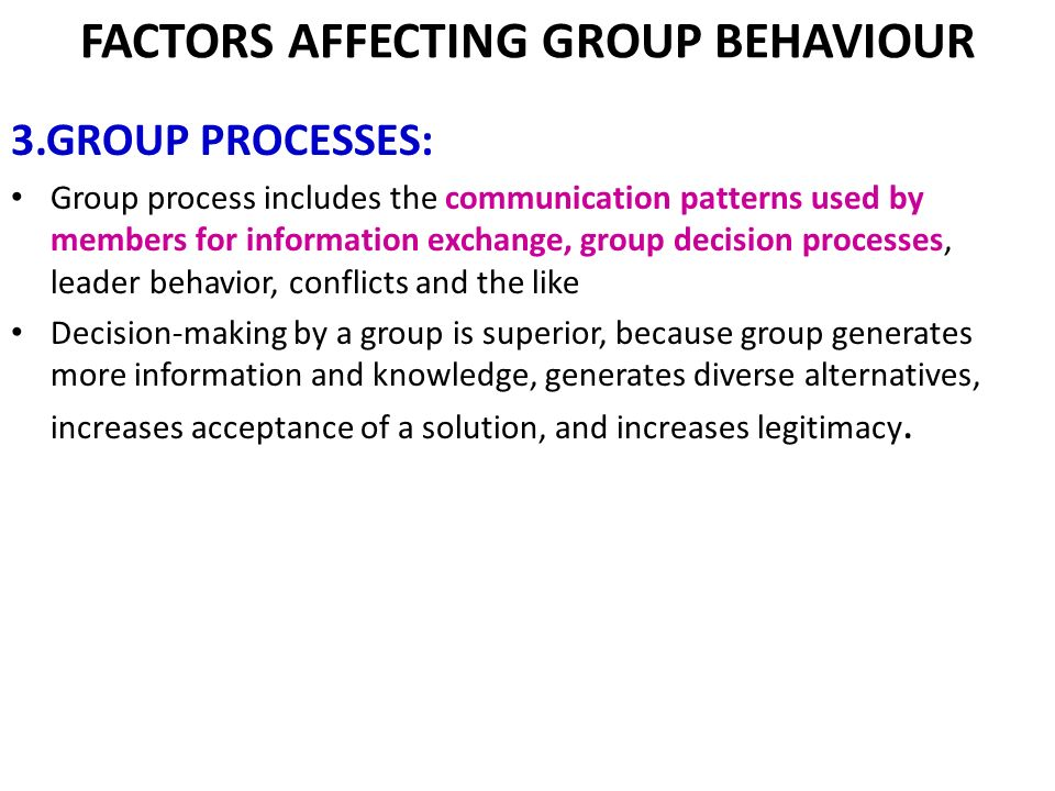 influencing group communication Small group member communication and known to influence how group members communicate: chapter 3 small group member communication and personality traits.