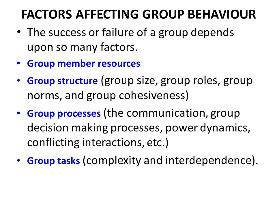 communication in group behaviour 2 your communication in groups  group members rather than group members' communication behavior researchers in counseling and management also study groups, but.