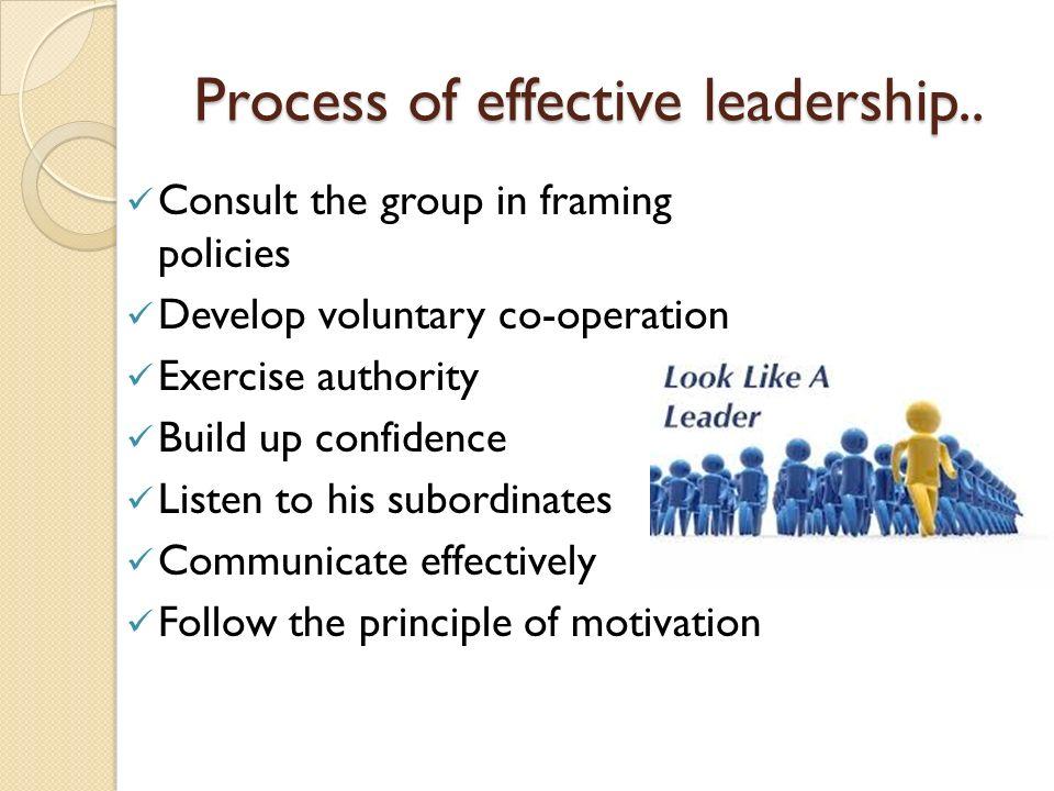 Process of effective leadership..