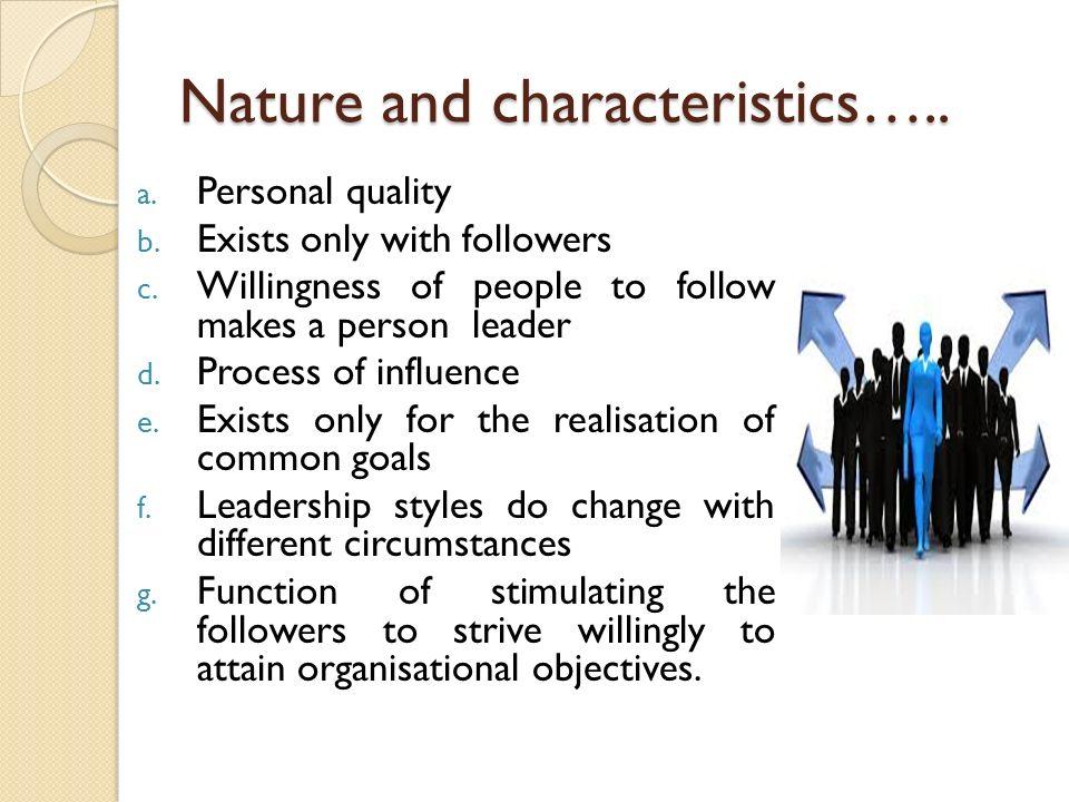 Nature and characteristics…..