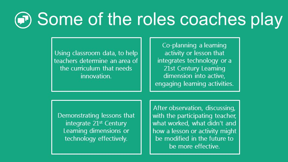 Some of the roles coaches play