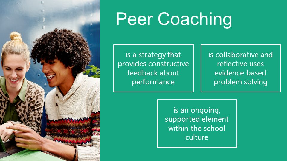 Peer Coaching is a strategy that provides constructive feedback about performance.