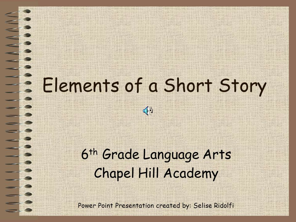 Elements of a Short Story - ppt download