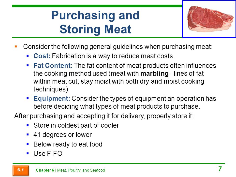 Chapter 6 Meat Poultry And Seafood Ppt Video Online
