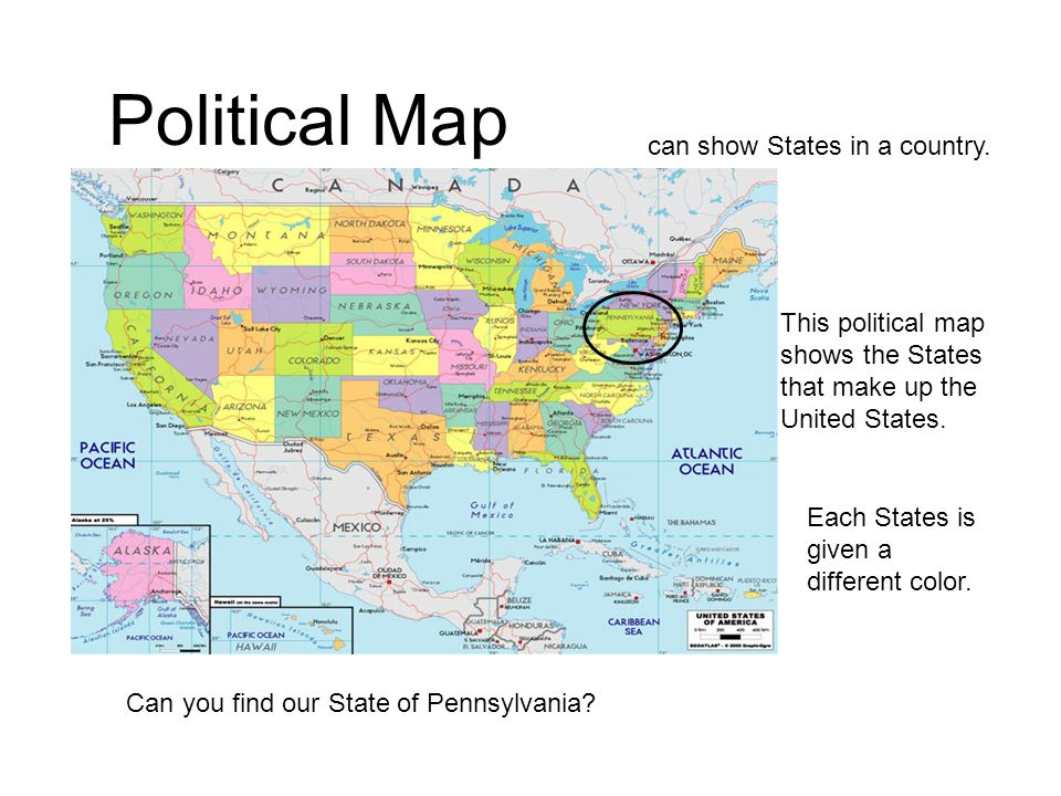 Political Map Can Show States In A Country