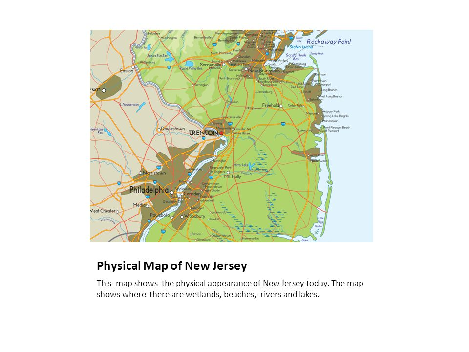 The Colonies New Jersey Ppt Download - New jersey physical map