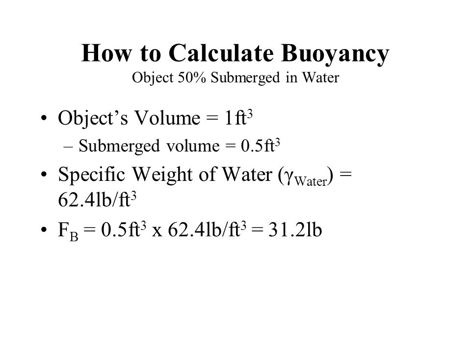 how to find the volume of an object in water