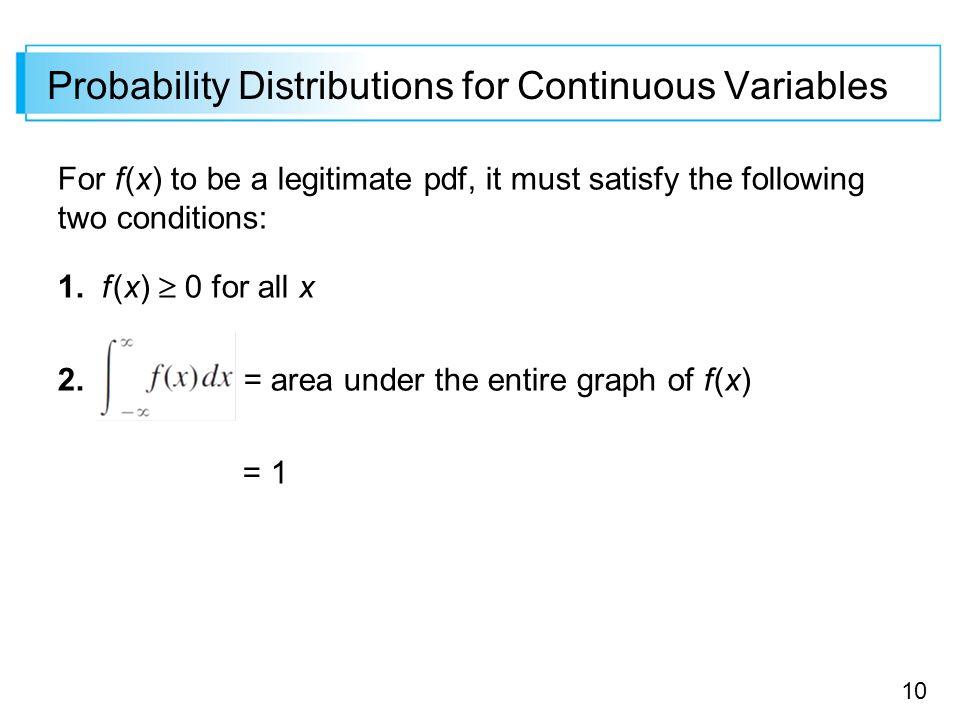 continuous random variable probability pdf