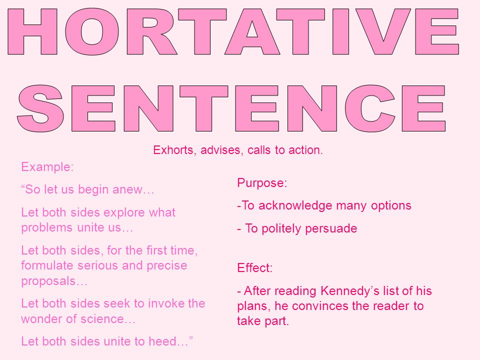 hortative sentence in inaugural address Examples of how to use the word inaugural in a sentence definitions, synonyms and translations are also available.