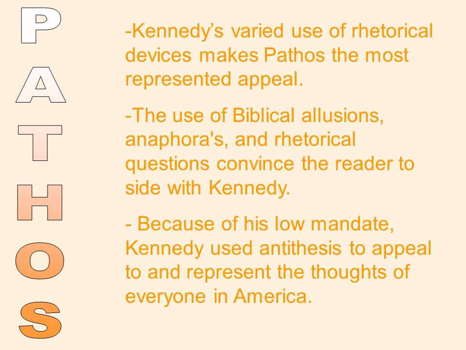 antithesis in jfk inaugural speech Rhetorical devices in the inaugural address of john f kennedy  antithesis:  contrast within parallel phrases (not to be confused with the.